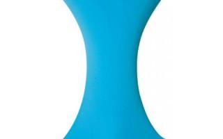 Stretch hoezen huren voor partytafels: turqoise hoezen beschikbaar