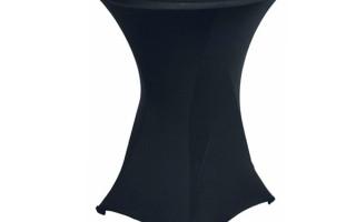 Stretch hoezen huren voor partytafels: zwarte hoezen beschikbaar