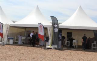 Onze partytafels in volle actie op Construction Demo Days Aalbeke